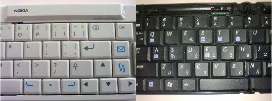 Cada teclado apresenta téclas destinadas a um sistema operacional específico