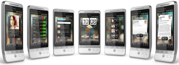 7 telas do HTC Hero. Espaço de sobra para colocar o que precisa. E isso é só para um perfil!