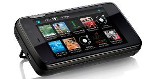 Nokia N900 - Inclinação da tela sem teclado