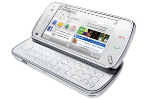 Nokia N97 - Tela inclinada sobre teclado