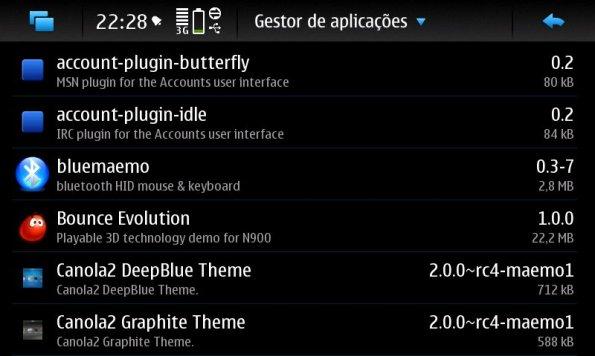 Opções de aplicativos para instalação