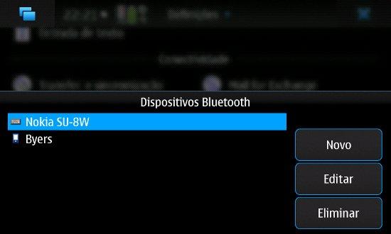 Configuração de dispositivos bluetooth