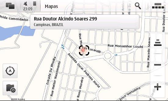 Localização no mapa pelo GPS