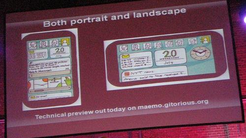 Maemo 6 promete suportar tanto modo retrato quanto modo paisagem (foto por gizmodo, via creative commons)