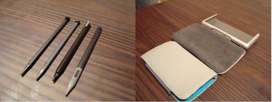A evolução também pode ser notada nas stylus e capas
