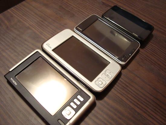 Evolução: 770, N800, N810 e N900