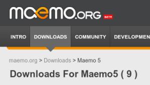 Maemo 5 - Só 9 downloads disponíveis até agora