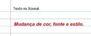 Xournal - Inserção de texto